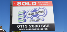 Alan Cooke Sold sign